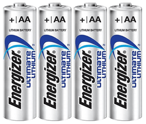 4x Energizer® Ultimate Lithium batteries